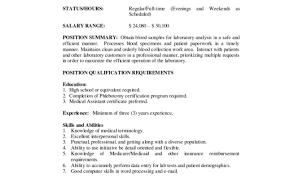 Phlebotomist Resume Examples Resume 100 Entry Level Phlebotomist Skills Based Phlebotomy 98