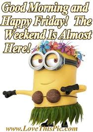 Good Morning Friday Quotes Gorgeous Good Morning Happy Friday Quotes Friday Happy Friday Tgif Minions