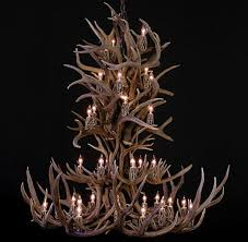 large mule deer antler chandelier mddough