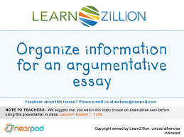identify the subject and audience of an essay organize information for an argumentative essay g6