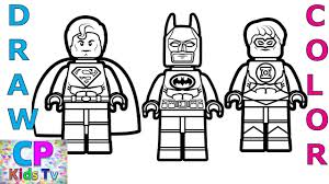 Superman coloring pages for kids. Superman Batman Green Lantern Coloring Pages How To Draw Superman Batman Green Lantern Youtube