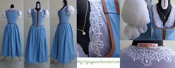 Belle Blue Dress Pattern Beauteous Belle FTL Caretaker Outfit Once Upon A Time By Giusynuno On