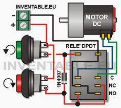 12 volts dc motor speed controller circuit diagram using encoder kétirányú vezérlés egy egyenáramú motor csak egy relé