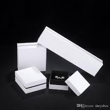 Kundenspezifisches Innenministerium Des Luxus Tory Burch Dhgate White Paper Schmuck Verpackung Box Luxus Top Bottom Karton Ring Ohrring Anhänger Armreif Boxen Großhandel