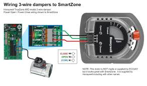 hvac damper wiring — zoningsupply com Honeywell Actuator Wiring Diagram Aquastat Wiring-Diagram