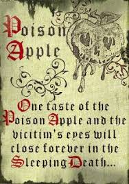 just in time for october and decor make your own poison apple and spell book this book and apple sits with all of my pot