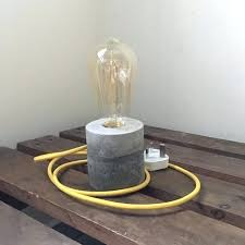 table lamp with edison bulb rustic minimal design concrete table lamp night lamp with bulb edison