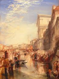 the grand c scene a street in venice painting joseph mallord william turner the