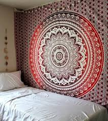 red burdy ombre boho tapestry