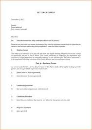 Letter Of Intent Template | Free Word Templates - Letter Of ...