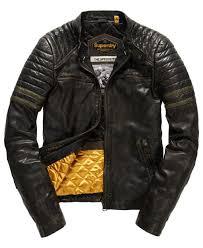 superdry endurance sd leather jacket worn black khaki superdry ireland c16g8840 superdry t