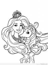 Disegni Da Colorare Gratis Barbie Sirena Disegno
