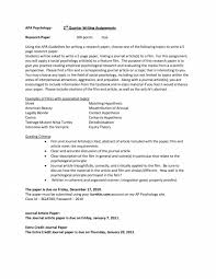 Abstract Research Paper Lovely Apa Research Paper Template Beautiful