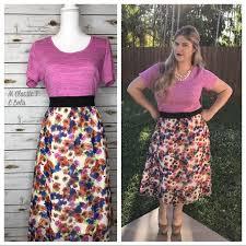 Lola Skirt Size Chart Lularoe Floral Lola Skirt Size Large Nwt