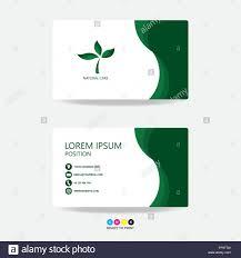 Green Card Template Green Nature Business Card Template Design Green Leafs Nature