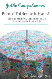mesmerizing outdoor tablecloths with umbrella hole and zipper for your patio table decor mesmerizing round