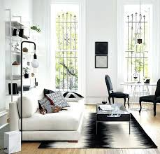 black and white modern rug room