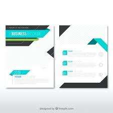 Leaflet On Word Business Leaflet Template With Blue Elements Vector Free