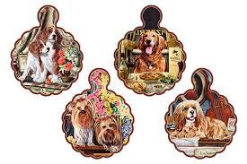 <b>Подставка</b> керамическая волнистая Собаки в ассортименте ...