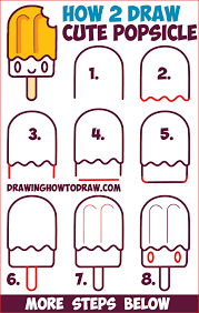 Cute Drawing Ideas 168186 How To Draw Cute Kawaii Popsicle