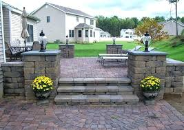 brick patio cost how much does per square foot average of paver a uk