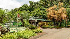 hawaii tropical botanical garden sign and gift