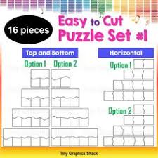 Jigsaw Puzzle Blank Template Set #1 | Pinterest | High Quality ...