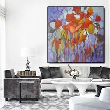 large acrylic painting hand painted