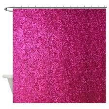 com cafepress hot pink faux glitter decorative fabric shower curtain 69 x70 home kitchen
