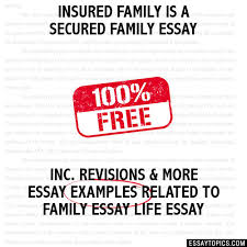 family essay examples family is a secured family essay