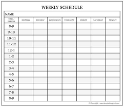 monday sunday calendar blank weekly calendar with time slots monday to sunday schedule