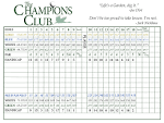 Scorecard & Course Layout - Champions Club at Summerfield