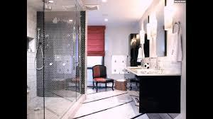 Mosaik Fliesen Badezimmer Dusche Schwarz Weiss Modern Waschtisch