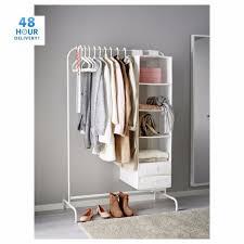 mulig clothes rail 99cm black white display rack coat rail stand free standing