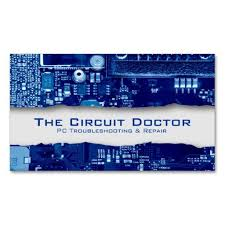 Computer Repair Business Card Electronic Circuits Zazzlecom