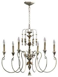 quorum international 6006 6 nto 6 light candle style chandelier