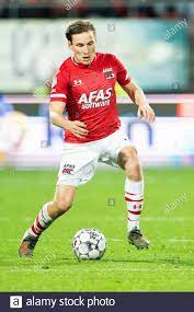 ALKMAAR , Football , Eredivisie , AFAS Stadium , 18–01-2020 , season  2019/2020 , AZ Player Jonas Svensson during the game AZ - Willem II Stock  Photo - Alamy
