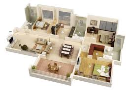 3 bedroom home design plans. 3 Bedroom House Plans 3d Design 8 Ideas Cool Home P