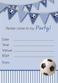 Boy Birthday Party Invitation Templates Free Free Printable Football Party Invitation Templates Game Soccer