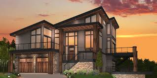 narrow sloping lot lake house plans new modern house plans home designs floor