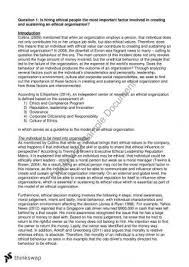 business academic skills final essay business academic  ethics and governance essay