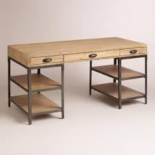 wood and metal teagan desk  desks metals and work surface