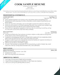Sample Grill Cook Resume Line Cook Resume Template Onlineemily Info