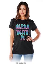 Rock N Roll Jeans Size Chart Alpha Delta Pi Rock N Roll Tee