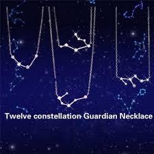 12 Souhvězdí Hvězdné Znamení Postříbřený Drahokam Náhrdelník Přívěsky šperky At Vova