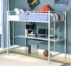 bunk bed office underneath. Loft Bed With Desk Underneath Bunk Grey Metal Plans Ideas Office C