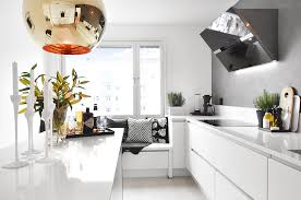best kitchen lighting for small kitchen with gray and white color schemes