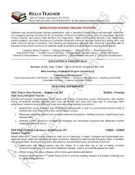 Gallery Of Teacher Resume English Teacher Resume Sample Teacher