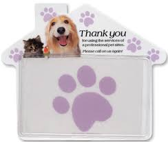 Pet Sitter Business Cards Promotional Pet Sitter Thank You Magnets Customize This Magnet