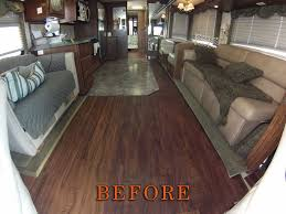 custom motorcoach vinyl plank flooring